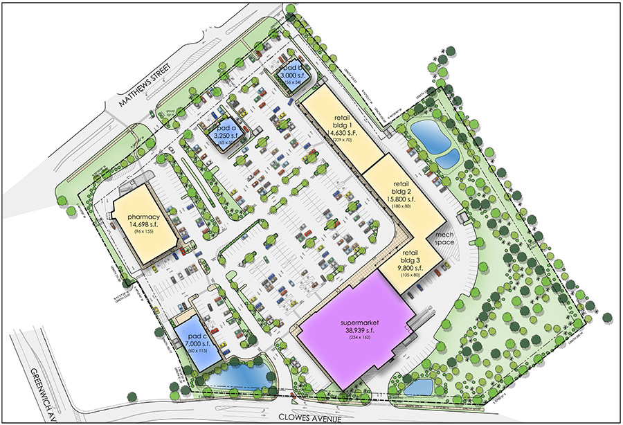 Goshen Plaza Site Map